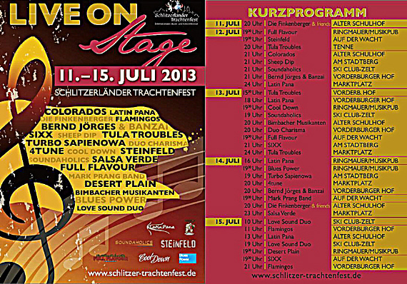 Flyer Trachtenfest 2013 Download